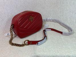 NWT Tory Burch Red Apple Kira Chevron Small Camera Bag $358 image 9