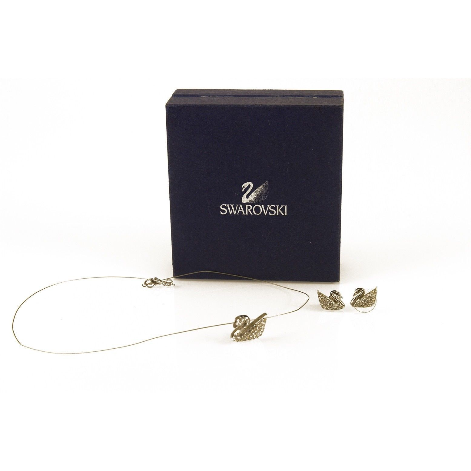 Primary image for Swarovski Signature Iconic Swan Pendant in String & matching Earrings set