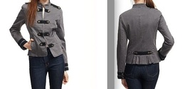 JUICY COUTURE gray military jacket Sgt Peppers epaulets small RARE sold out $398 - $185.00