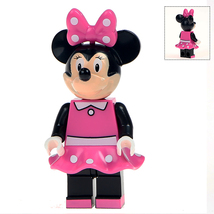 Minnie Mouse Minifigures Custom Minifig Toy Building Block Superheroes Toy - $3.79