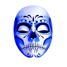 Underwraps Day of the Dead Blue Shadow Sugar Skull Mask Halloween Costum... - $17.22 CAD