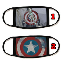 Captain America Face Mask with black string reusable washable  #14 - $14.54+