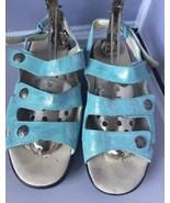 Pre Owned Women's Propet Bahama Slingback Sandals, Aqua Size 8M - $24.95