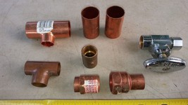 "7BBB15 PLUMBING ASSORTMENT: 3/8"" COMPRESSION --> 1/2"" SWEAT, 1-1/4 TURN ... - $15.61"