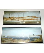 Two Sailing and Lighthouse Wood Plaques - $8.50