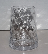 Large 7.5 inch Swirling Design Clear Crystal Vase - $16.99