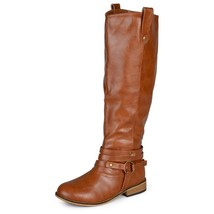 New Woman's Tall Journee Collection Wc Walla Chestnut Boots Size 10 w/ Z... - £29.54 GBP