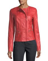 Basic Single Breasted Hot Women's Genuine Soft Lambskin Leather biker Ja... - $145.00
