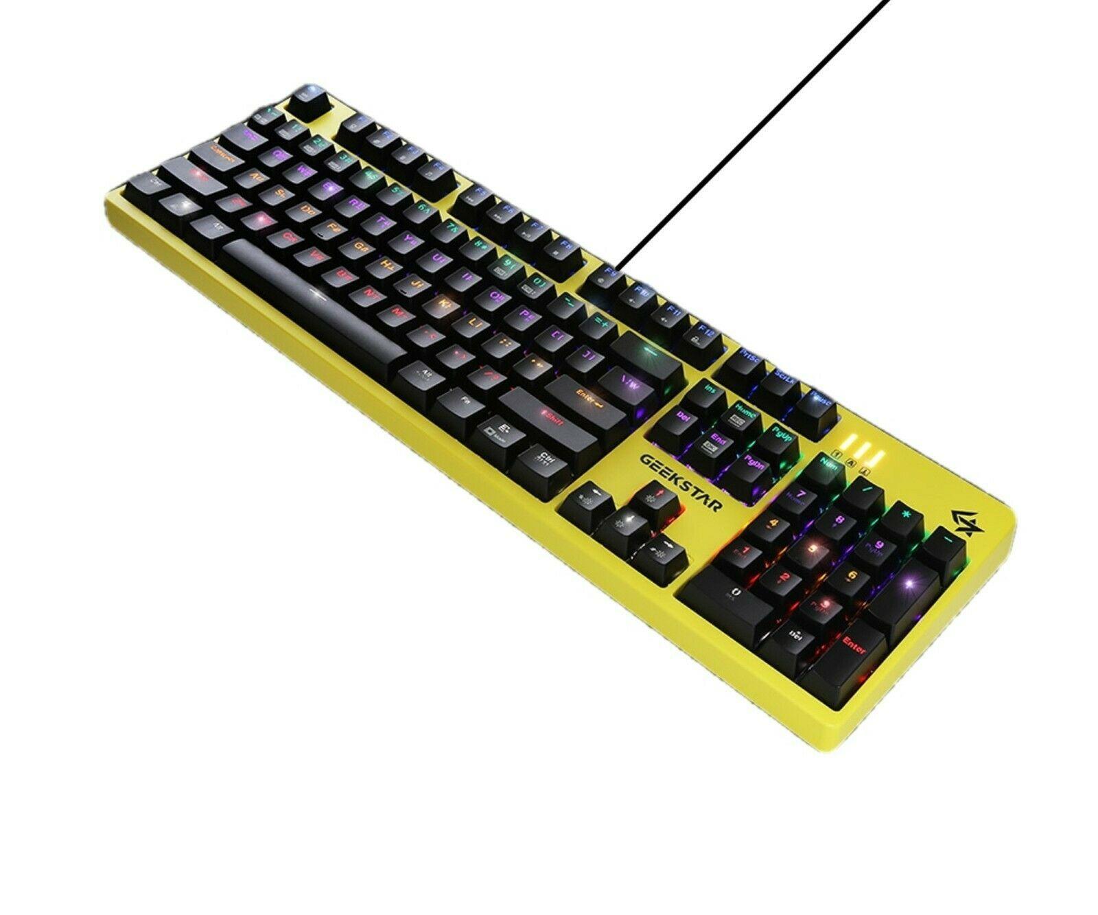 Geekstar GK702 Mechanical Gaming Keyboard English Korean Kailh Optical Switch