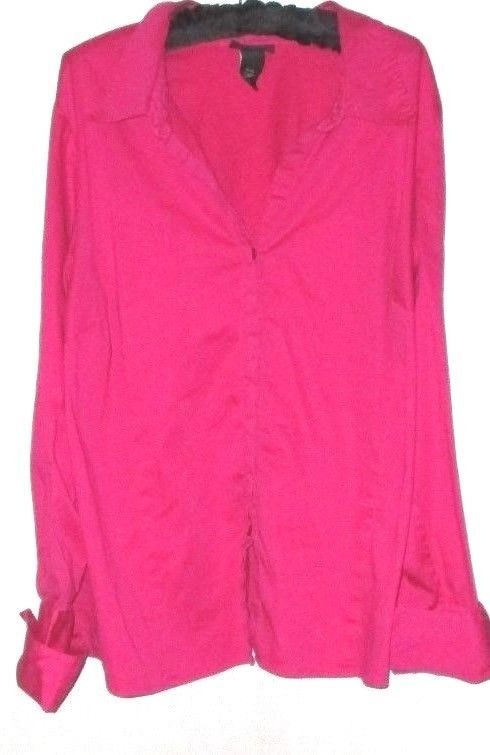 Primary image for WOMEN'S PINK BUTTON DOWN TOP SIZE 18/20 LANE BRYANT