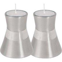 Small Silver Anodize Aluminum Shabbat Candlesticks by Yair Emanuel - $35.05