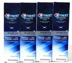 4 Boxes Crest 4.8 Oz 3D White Luxe Diamond Strong Brilliant Mint Toothpaste - $32.99