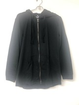 Hanes Womens French Terry Full Zip Hoodie, Black, Small - $10.69