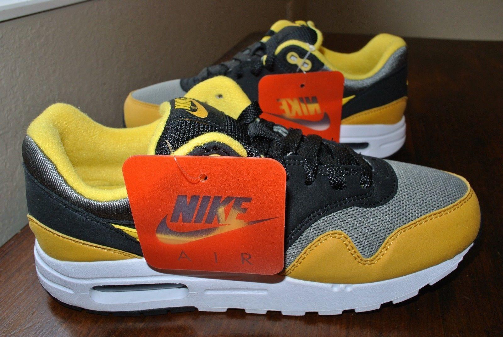Nike Air Max 1 (Gs) Youth Black Yellow Grey and similar items