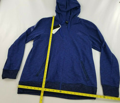 new ADIDAS men jacket hoodie full zip CW9658 blue 2XL MSRP $75 image 2