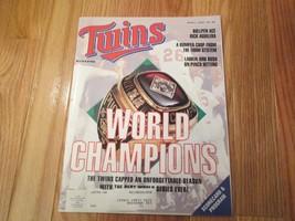 Minnesota Twins World Champions 1992 Program Souvenir Magazine MLB Baseball - $6.99