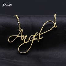 Custom Name Necklace Personalized Nameplate Word Necklaces & Pendants Cu... - $27.60