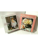 2 NEW 550 pc Puzzles LITTLE ANGELS Darling GIrl + FLORAL FANTASY Roses V... - $39.06