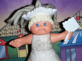 Cabbage Patch Kids Miniature Doll CPK 1994 Winter Princess Snowflake Dress Tiara - $2.96