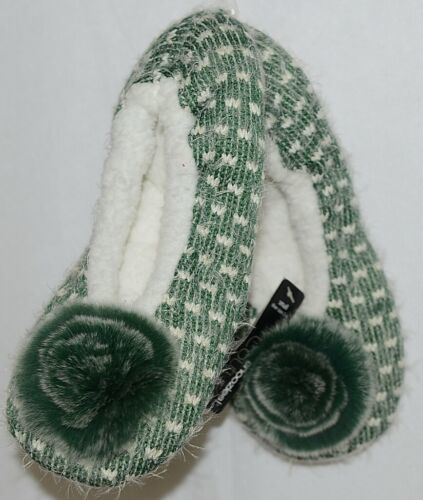 Snoozies Brand Couture Collection SPK006 Green Womens House Slippers Size S