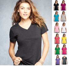 Anvil Woman's Sheer Featherweight V-Neck Tee T-Shirt XS-2XL 392 392A-13 Colors! - $5.14+