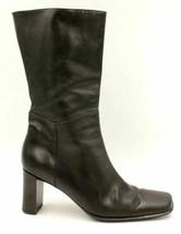 Via Spiga Women Leather Zip Up Mid Calf Boots Size US 10M Black - $35.12