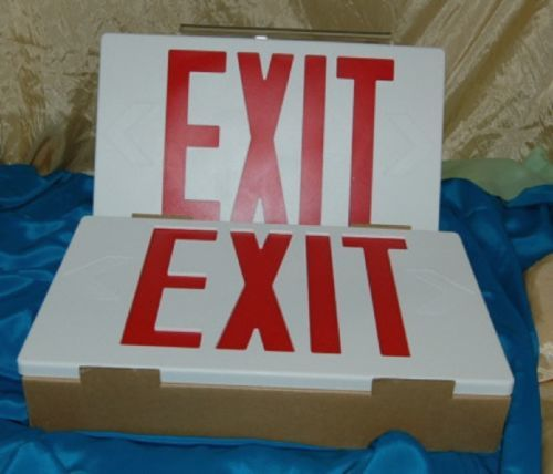 BriteWay Led Lighting Exit Sign White Thermoplacitc Red Letters