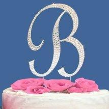 Fully Covered in Crystal Monogram Wedding Cake Topper Letter - Letter B - $11.69