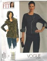 1081 Uncut Vogue Couture Motif Femmes Semi Ajusté Chemisier Gilet Betzin... - $10.00