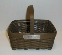 Longaberger Collectors Club 2007 Charter Member Basket & Protector Dark - $44.54