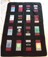 ALCOHOL themed t shirt quilt handcrafted patchwork 60 x 39 throw lap new... - $145.12
