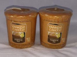 2 Yankee Candle Pumpkin Pie 1.75 Oz Votive Candle New Gift - $4.80