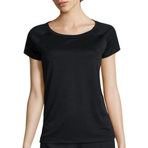 Made for Life Short-Sleeve Shirt Tail Mesh Raglan Tee Size S New Black - $7.99