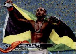 Aljamain Sterling 2018 Topps Chrome UFC Diamond Parallel Card #13 - $2.00