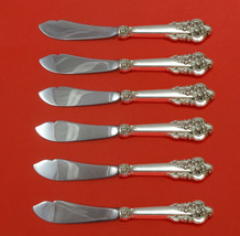Grande Baroque by Wallace Sterling Silver Trout Knife Set 6pc HHWS Custo... - $419.00