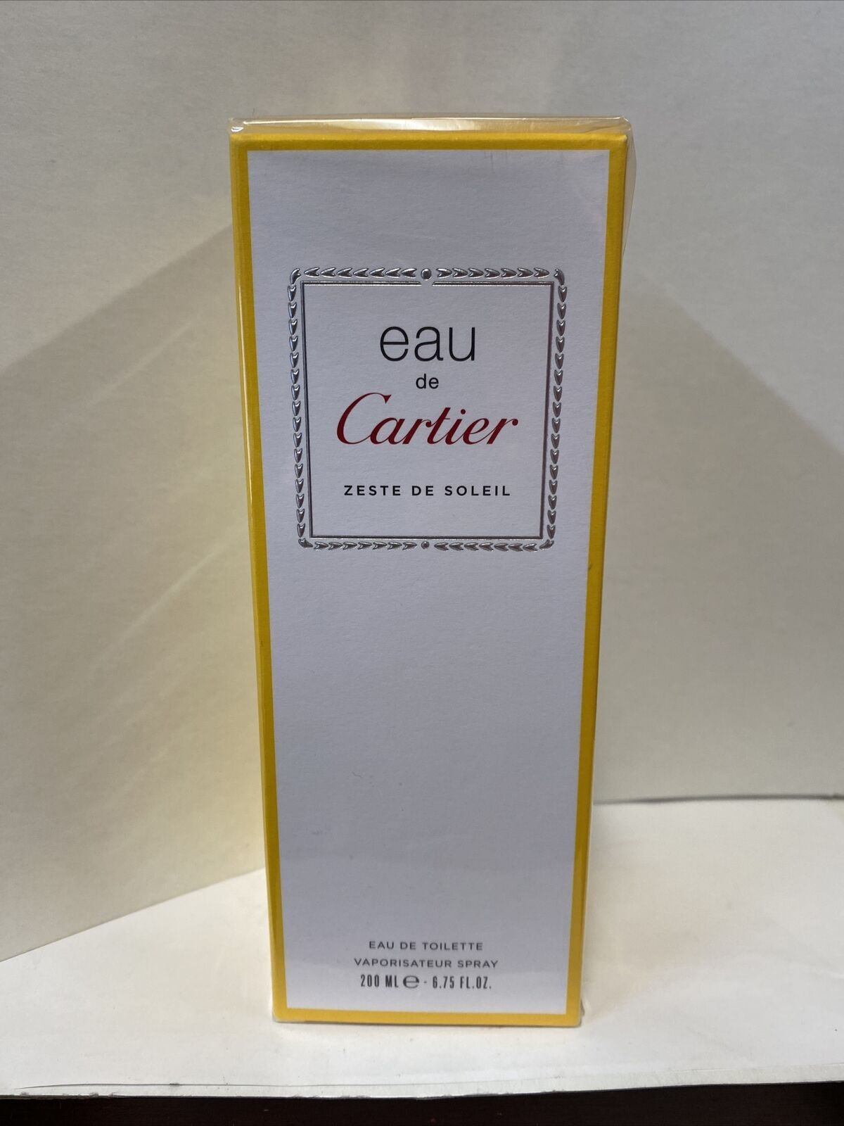 Cartier eau de cartier zeste soleil  6.7 oz edp spray