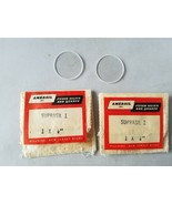 Vintage Amersil Suprasil 1 Fused Silica & Quartz Glass Lenses Set of 2 Rare - $60.44