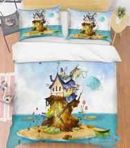 3D Road House Paint 26 Bed Pillowcases Quilt Duvet Single Queen King US Lemon - $102.84+