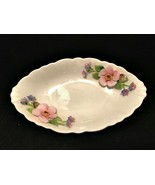 Coalport Bone China Bowl Raised Applied Flowers Made in England 5 inches... - $23.76
