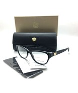 Versace Oval Cateye MOD 3204 GB1 Shiny Black  Eyeglasses 53mm MIB - $106.67