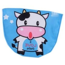 2 Lovely Cow Blue Baby Cotton Gauze Towel Wipe Sweat Absorbent Cloth Mat Towels