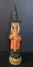 "Anthony Costanza Captured Carvings Witch & Cauldron 13.25""  - $49.00"