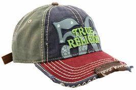 True Religion Men's Premium Cotton Vintage Distressed Trucker Hat Cap TR1690 image 11