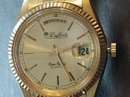 Vintage Men's Dufonte Lucien Picard Watch With Date And Day - $98.01