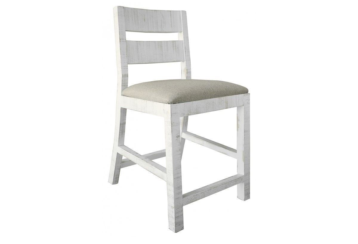 24 Inch Padded Seat White Anton Bar stool
