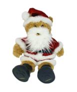 BUILD A BEAR BROWN TEDDY IN CHRISTMAS SANTA RED SUIT STUFFED ANIMAL PLUS... - $45.82
