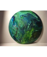 """12"""" Vinyl Music Record Wall Art - Fluid Acrylic Flowing Poured Paint 005 - $28.45"""