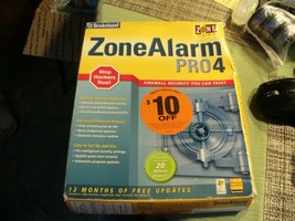 9#   Broderbund ZoneAlarm Pro 4 + key Box says used but looks sealed to me - $14.84