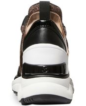 Michael Kors MK Women's Mickey Trainer Wedge Sneakers Shoes Rose Gold image 4