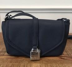 TOMMY HILFIGER Crossbody Bag Women Purse Flap Shoulder Bag Navy Blue NEW... - $39.99